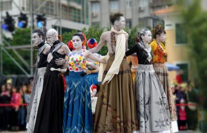 Site-Specif Circumambulation @ MACAO PARADE, 14th Celebrations of Macao's handover to China (Macau, China)