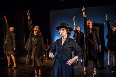 ''The House of Bernarda Alba'' - front stage: Ewa Czekalska photo: Barek Sowa
