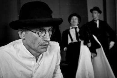 ''Paper hunters'' - left side of stage: Mariusz Sikorski, Radomir Piorun, Rober Wieczorek photo: Bartek Sowa