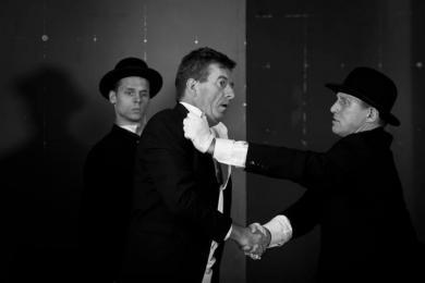 ''Paper hunters'' - left side of stage: Rober Wieczorek, Zbigniew Szymczyk, Artur Borkowski photo: Bartek Sowa
